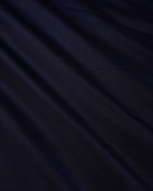 Navy Blue Plain Satin Viscose Silk Fabric - HolyWeaves