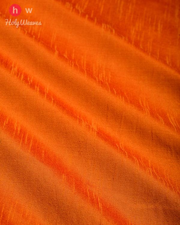 Orange Slub Waterfall Plain Woven Poly Dupion Fabric for Furnishings, Handicrafts etc - HolyWeaves