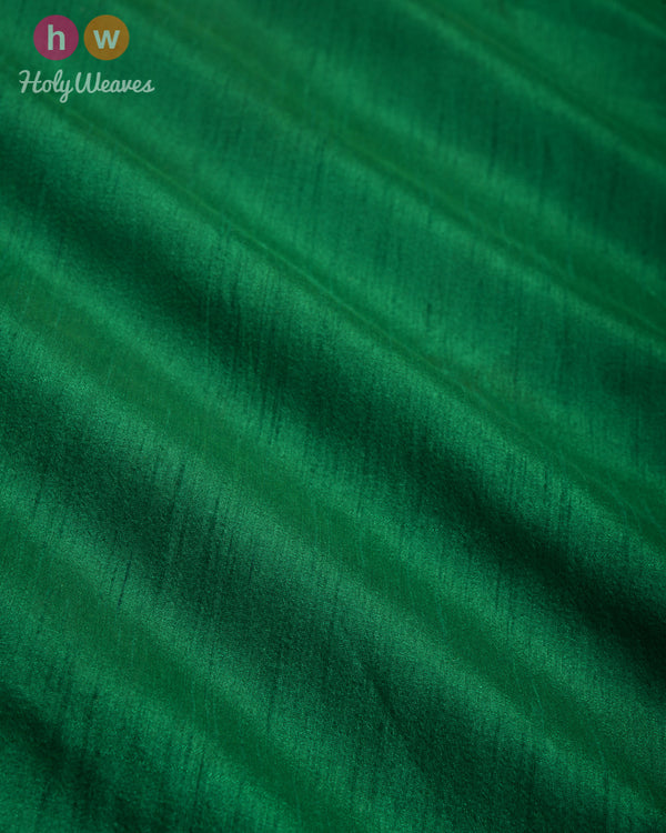 Forest Green Slub Waterfall Plain Woven Poly Dupion Fabric for Furnishings, Handicrafts etc - HolyWeaves