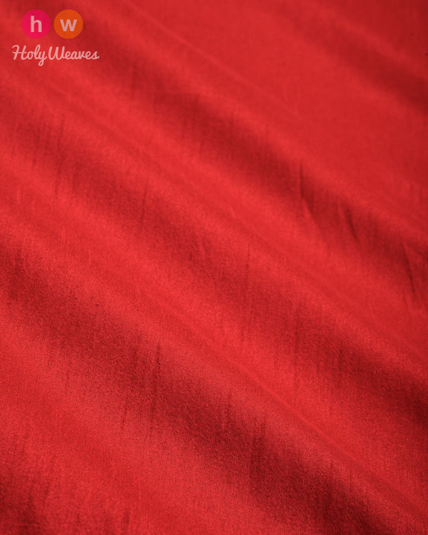 Red Slub Waterfall Plain Woven Poly Dupion Fabric for Furnishings, Handicrafts etc - HolyWeaves