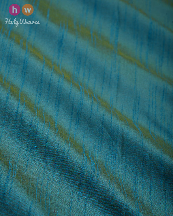 Teal Blue Slub Waterfall Plain Woven Poly Dupion Fabric- HolyWeaves