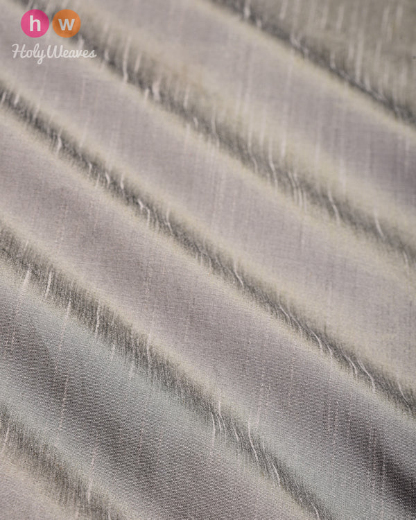 Gray Slub Waterfall Plain Woven Poly Dupion Fabric for Furnishings, Handicrafts etc - HolyWeaves