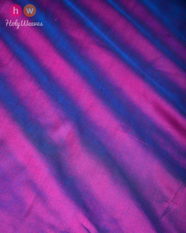 Purple Banarasi Plain Woven Spun Silk Fabric - HolyWeaves