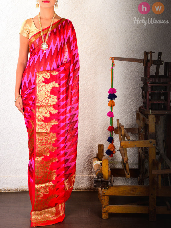Printed Pure Georgette Saree - HolyWeaves