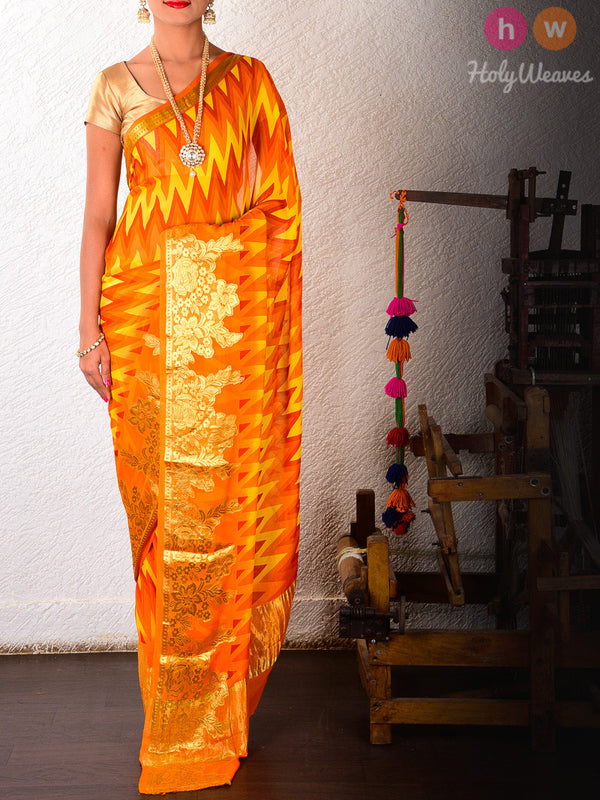 Printed Pure Georgette Saree- HolyWeaves