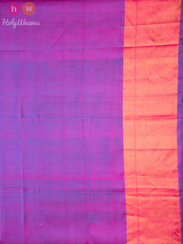 Blue Patola Handwoven Silk Saree - HolyWeaves