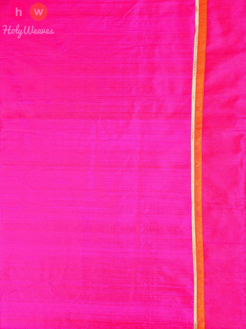 Pink Raw Silk  Embroidered Saree - HolyWeaves