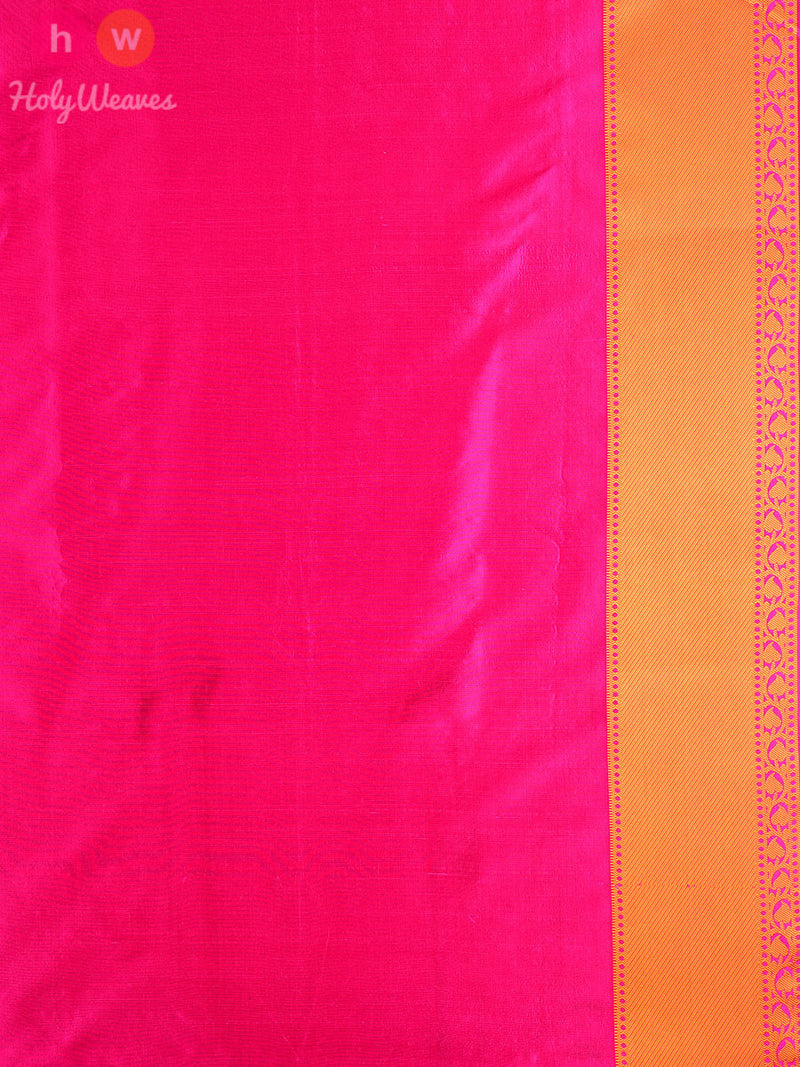Pink Silk Tanchoi Brocade Handwoven Saree - HolyWeaves