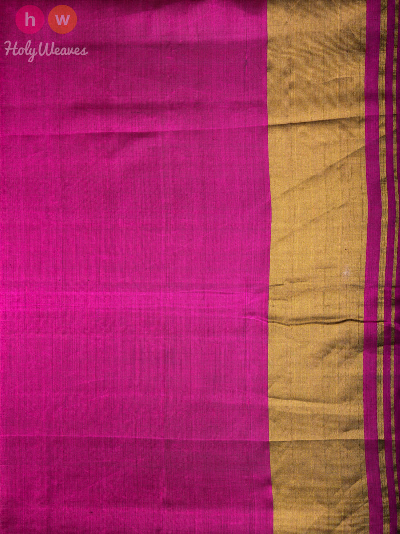 Purple Ikat Buti Patola Ikat Handwoven Silk Saree - HolyWeaves