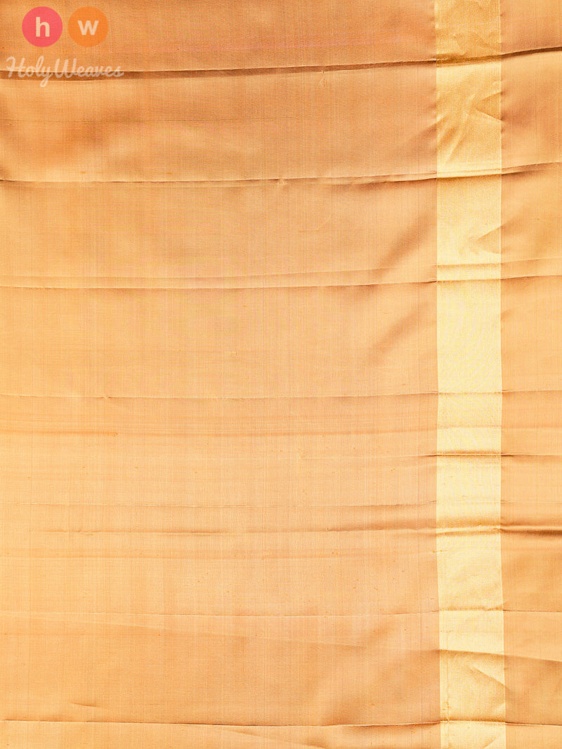 Yellow Ikat Handwoven Silk Saree - HolyWeaves