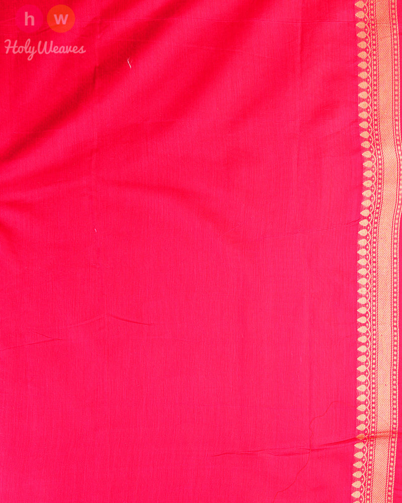 Pink Banarasi Cutwork Brocade Woven Art Cotton Silk Saree - HolyWeaves