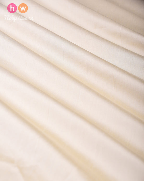 Cream Pure Silk Plain Fabric - HolyWeaves