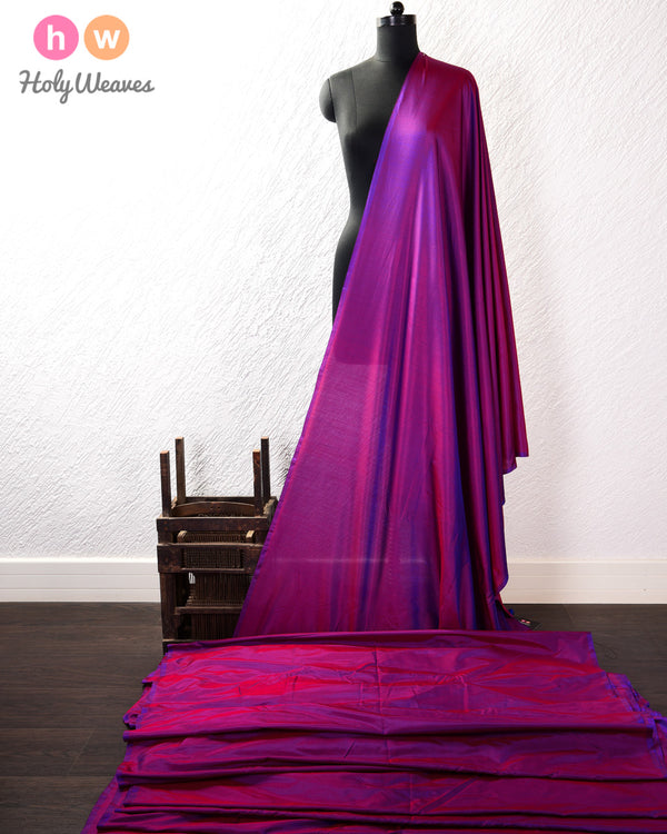 Purple Dual-tone Pure Silk Plain Fabric- HolyWeaves
