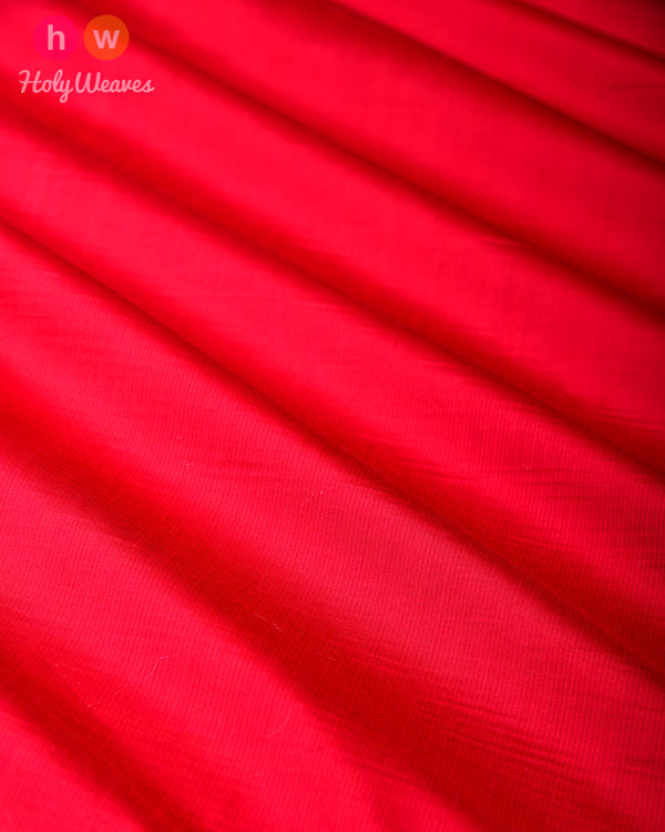 Red Pure Silk Plain Fabric- HolyWeaves