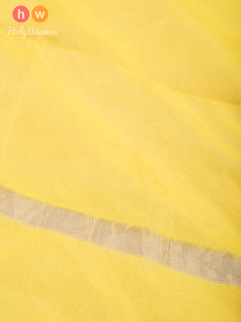 Yellow Woven Poly Cotton Silk Dupatta - HolyWeaves