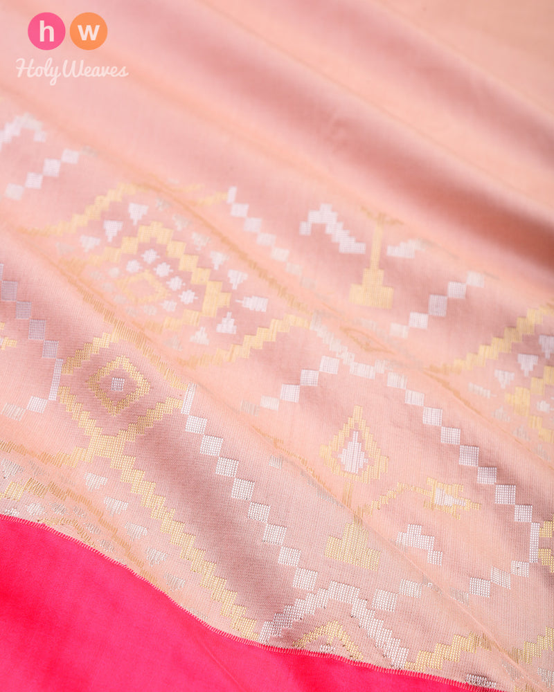 Cinereous Brown Cutwork Brocade Handwoven Katan Silk Saree- HolyWeaves