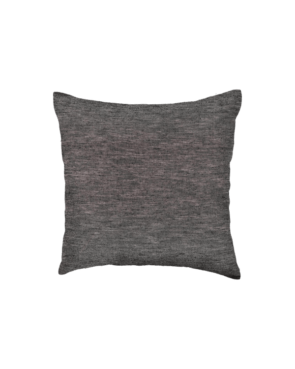 "Gray Poly Linen Cushion Cover 16"" - HolyWeaves"
