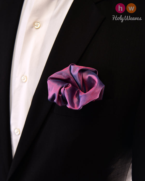 English Lavender Handwoven Silk Pocket Square - HolyWeaves