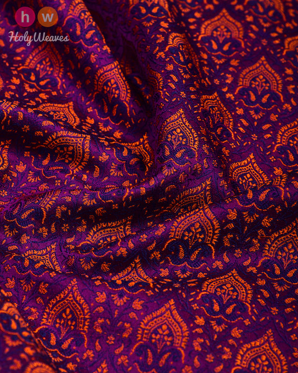 Purple Jamawar Handwoven Silk Pocket Square - HolyWeaves