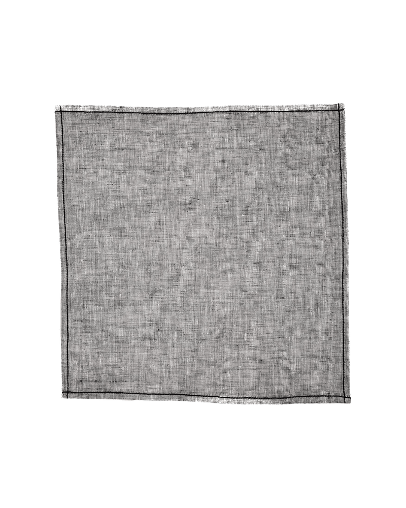 Gray Handwoven Linen Cotton Pocket Square - HolyWeaves