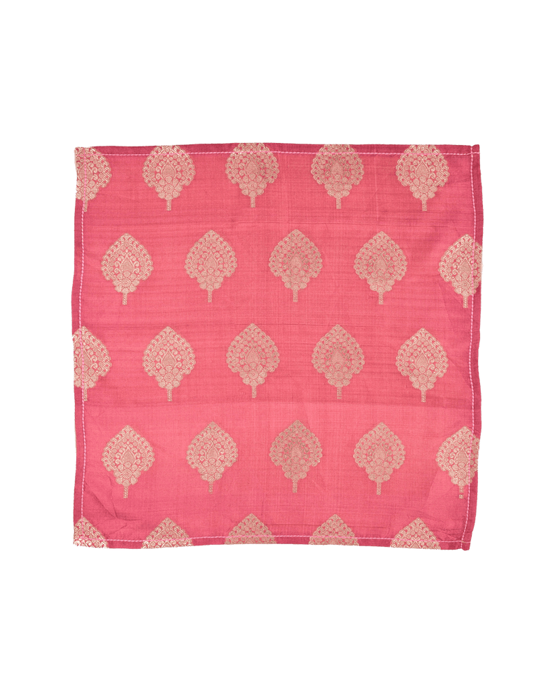 Redwood Brocade Handwoven Silk Pocket Square - HolyWeaves
