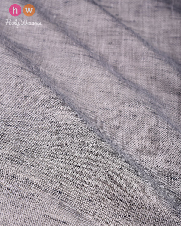 Gray Plain Handwoven Linen Cotton Fabric - HolyWeaves