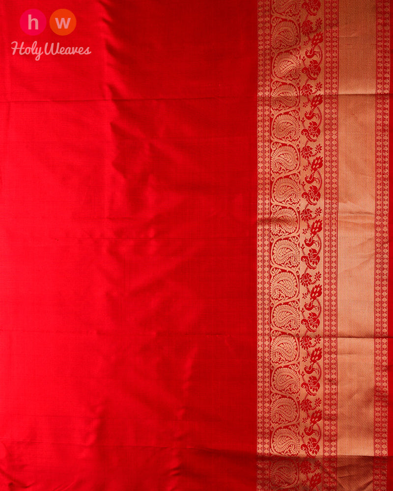 French Lilac Pochampalli Ikat Handwoven Silk Saree with Kanjivaram Border Pallu