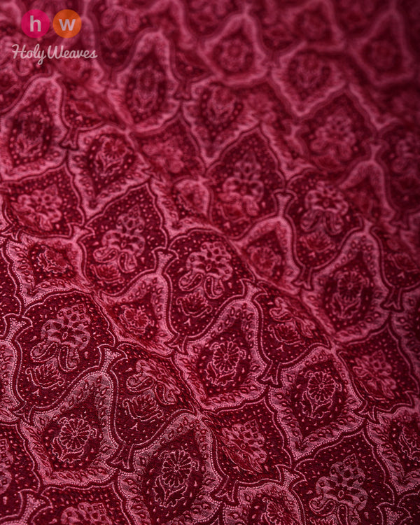 Mahogany Tanchoi Handwoven Silk Wool Fabric - HolyWeaves