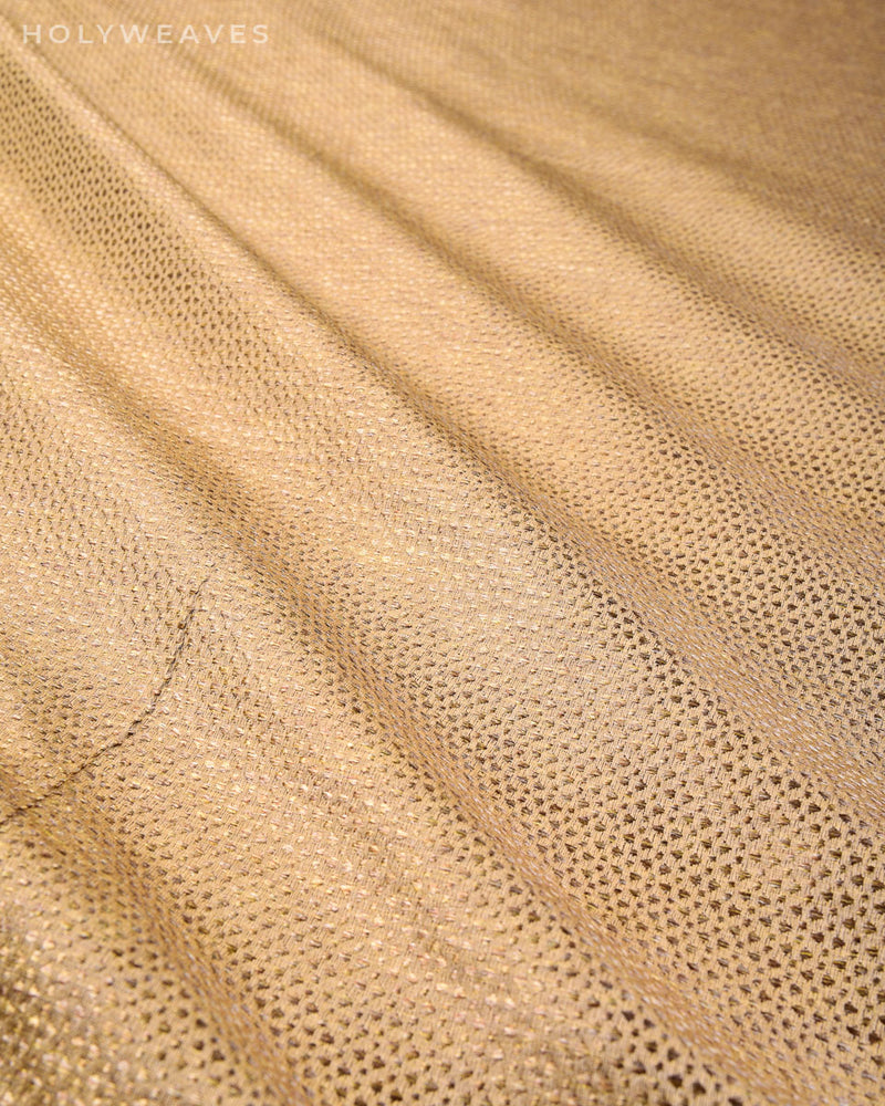 Beige Banarasi Satin Brocade Woven Art Silk Fabric - HolyWeaves