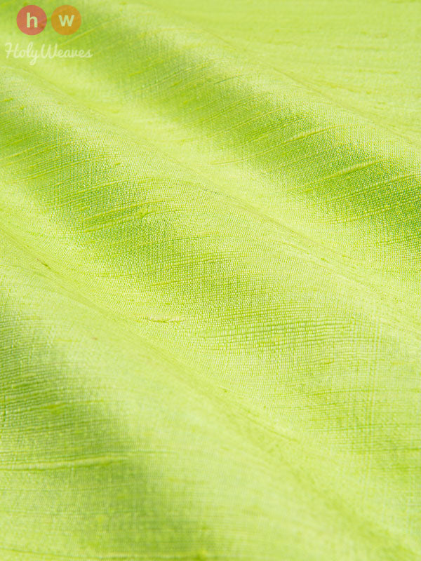 Green Raw Silk Fabric- HolyWeaves