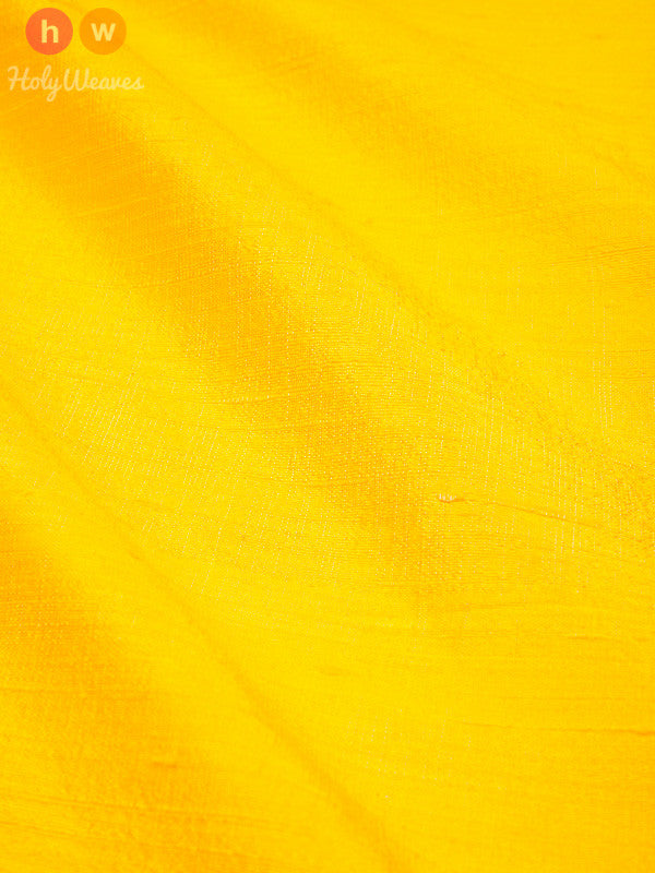 Yellow Raw Silk Fabric- HolyWeaves