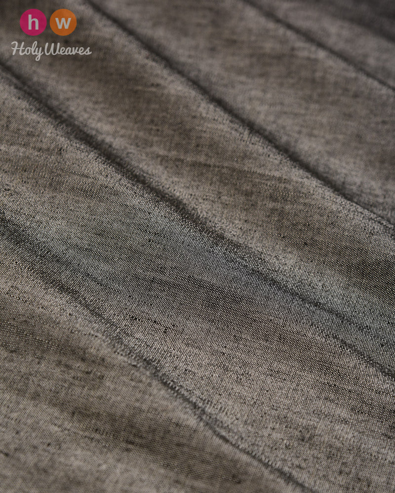 Gray Plain Woven Linen Silk Fabric - HolyWeaves