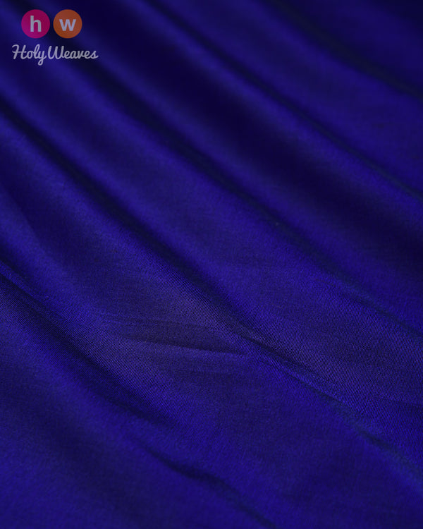 Blue Spun Plain Woven Silk Fabric - HolyWeaves