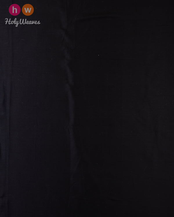 Black Spun Plain Woven Silk Fabric - HolyWeaves