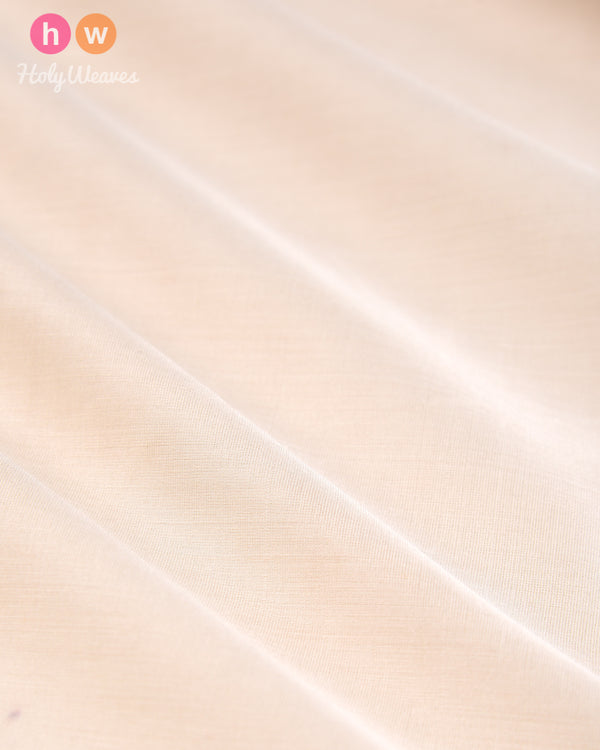 Cream Plain Woven Dupion Silk Fabric - HolyWeaves