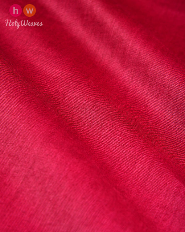 Maroon Plain Tasar Silk Fabric - HolyWeaves