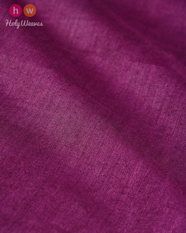 Purple Plain Tasar Silk Fabric - HolyWeaves