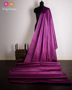 Purple Plain Tasar Silk Fabric- HolyWeaves