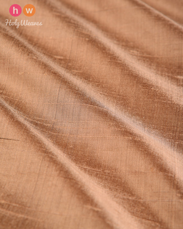 Rosy Brown Handwoven Plain Raw Silk Fabric- HolyWeaves