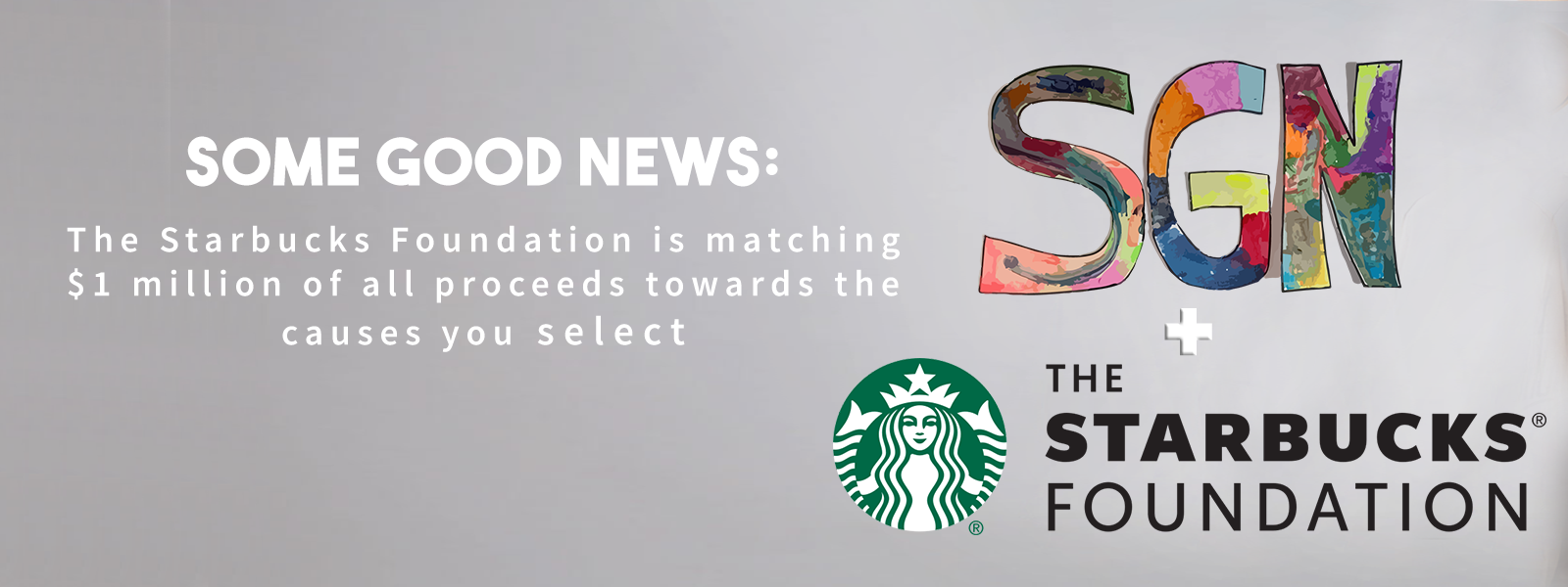 Some good news Seveny sevenly.org Starbucks