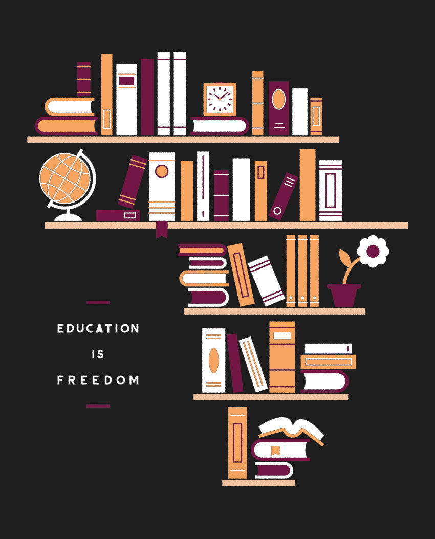 Education Is Freedom Flowy V Neck