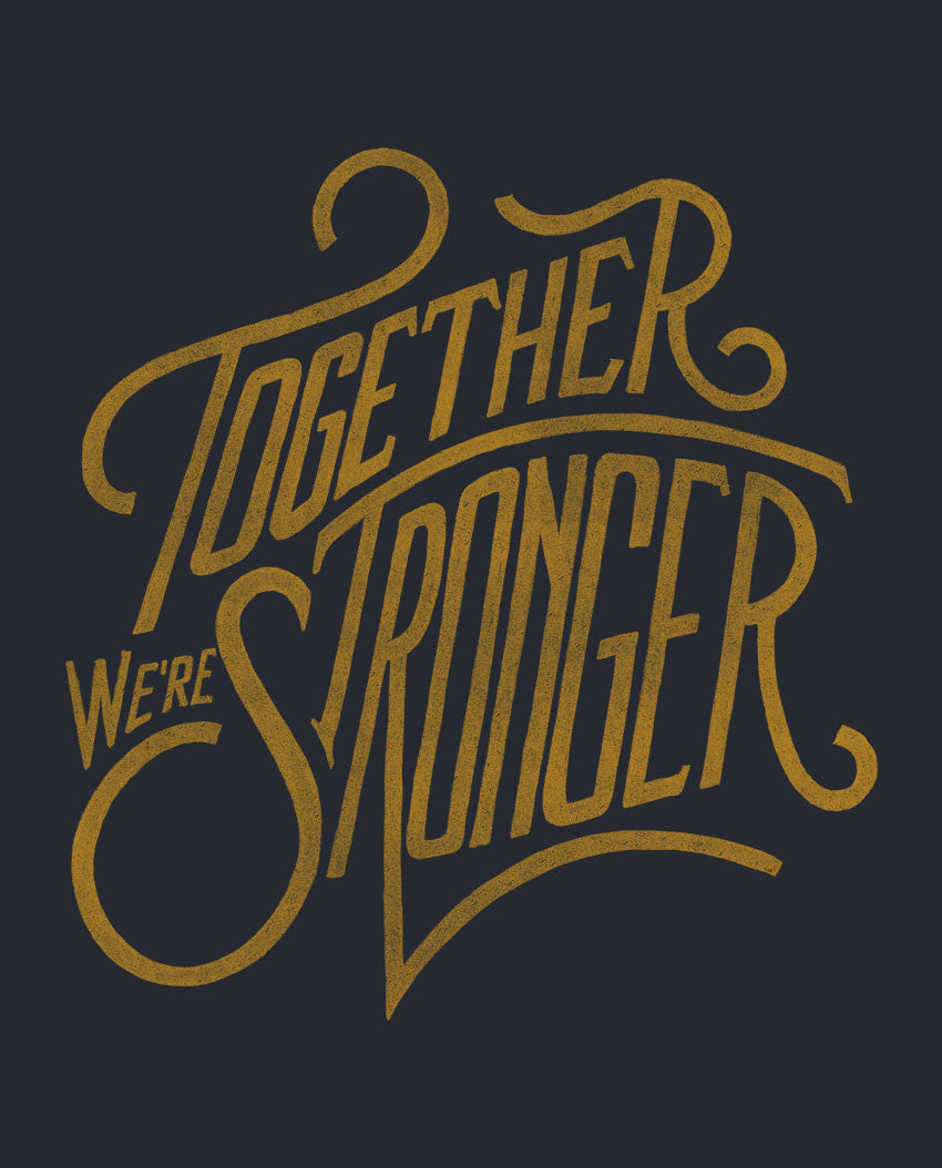 Together We're Stronger Flowy V Neck