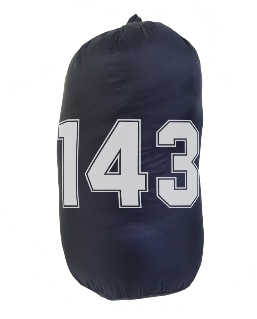143 = I LOVE YOU Weatherproof Down Puffer Packable Blanket