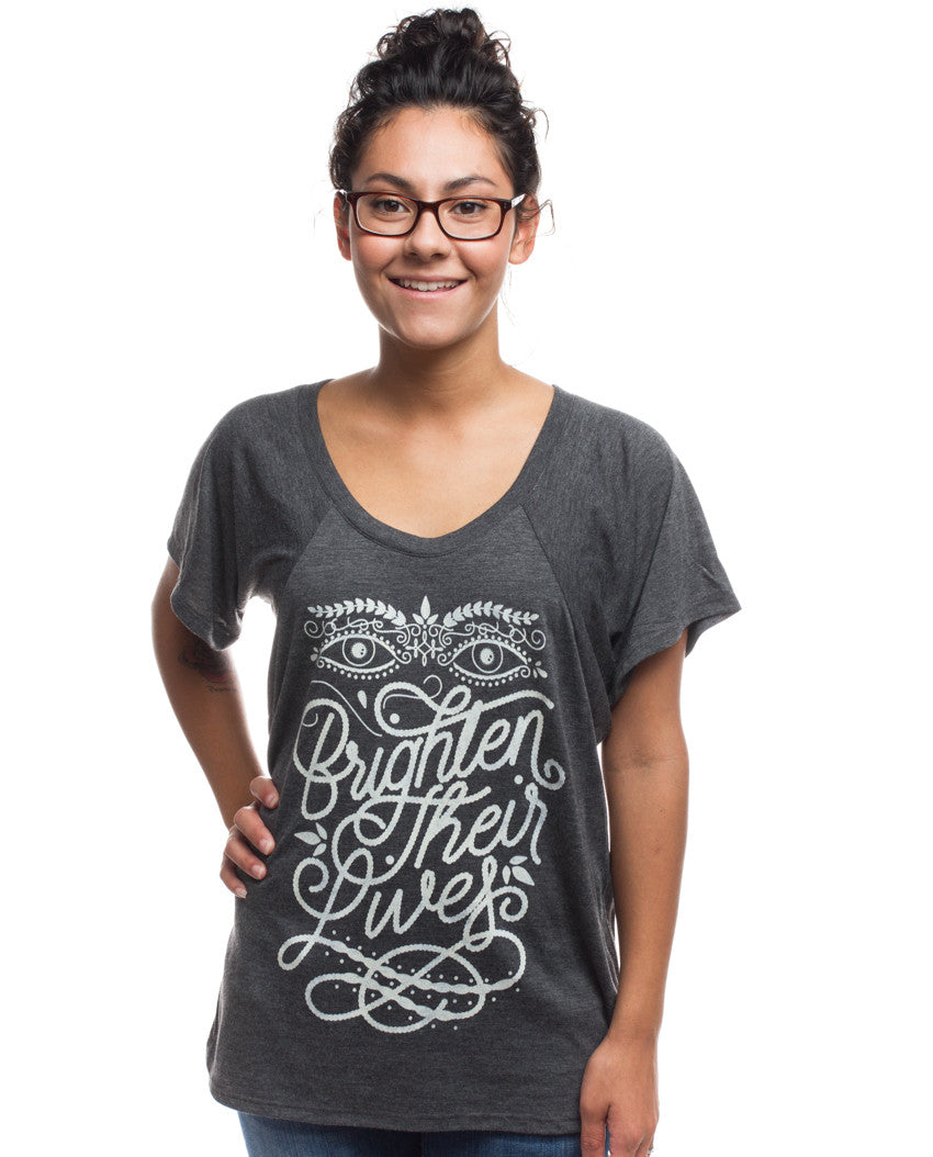 Brighten Their Lives Flowy Raglan