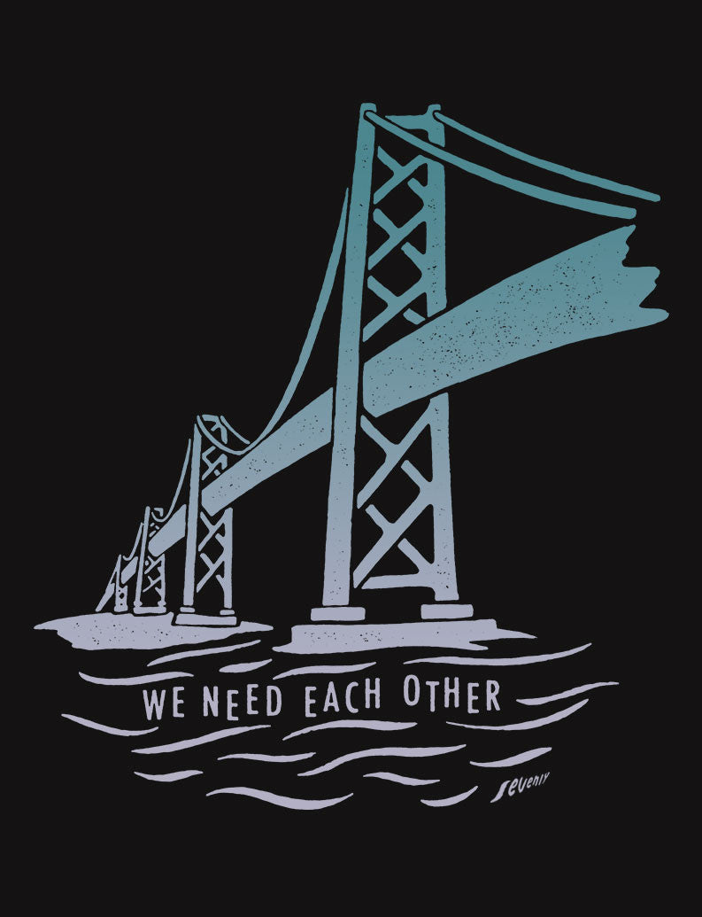 We Need Each Other Flowy Racerback Tank