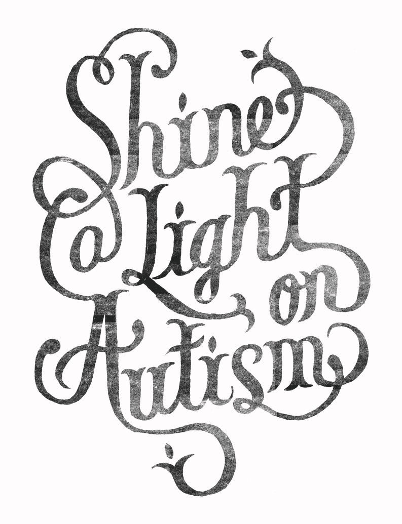 Shine Light On Autism Mens Tee