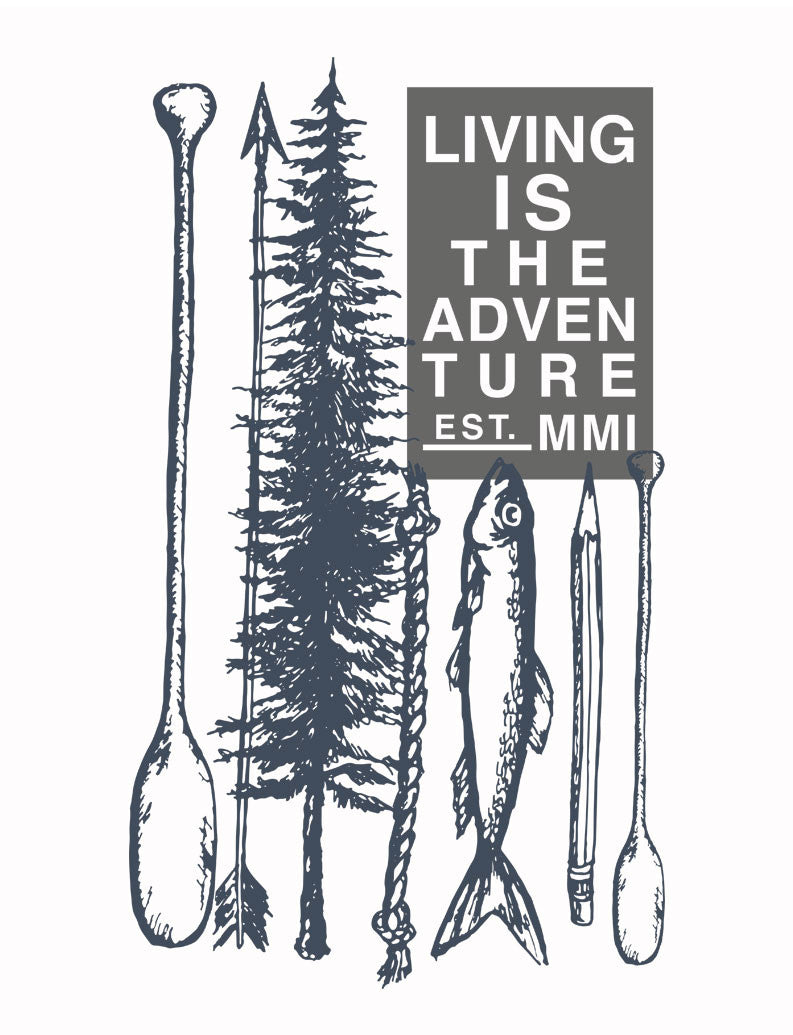 Living Is The Adventure Mens Tee