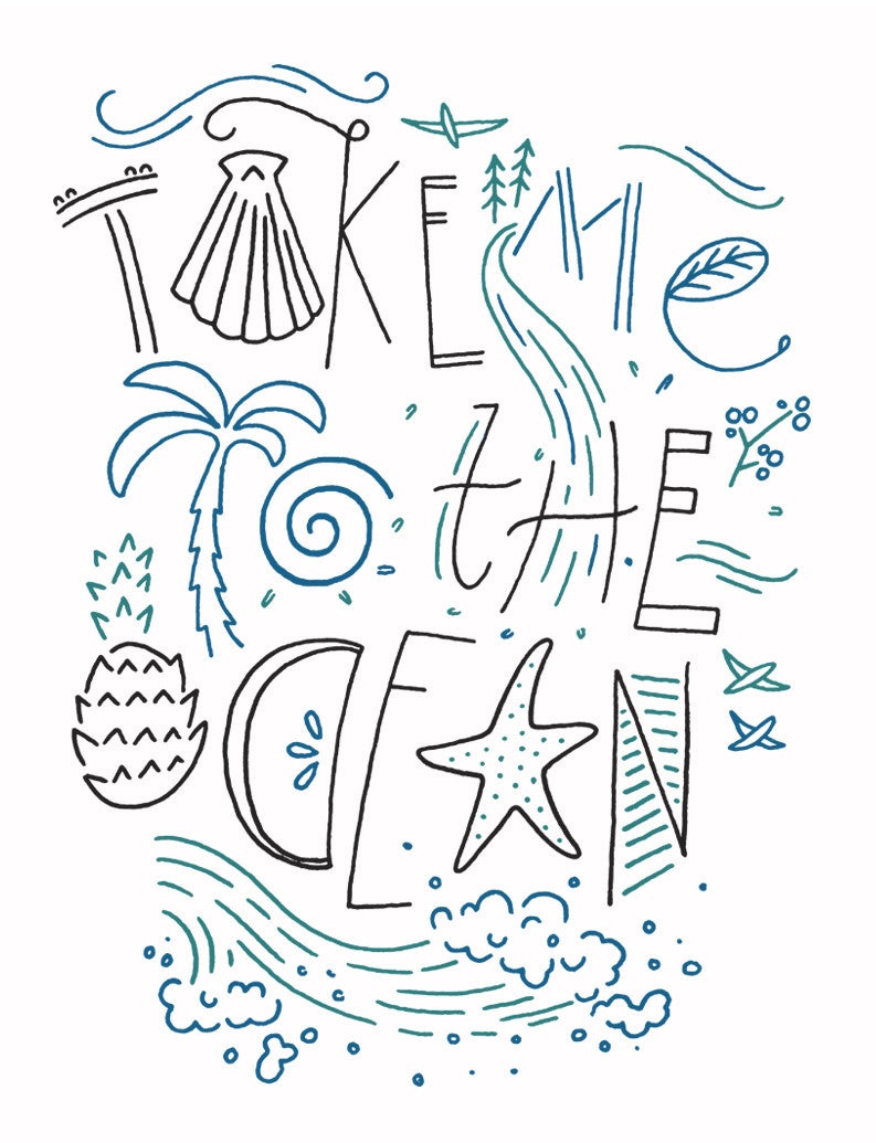 Take Me To The Ocean Triblend Racerback Tank