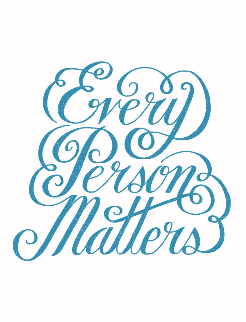 Every Person Matters Flowy V Neck