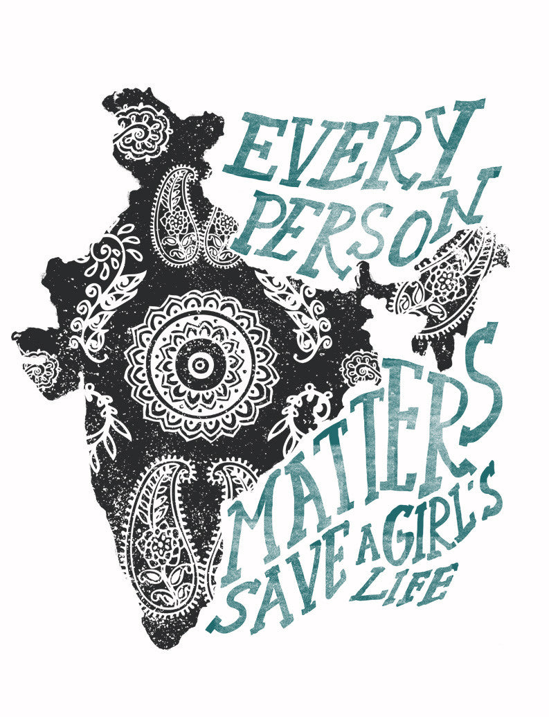 Every Person Matters Henna Flowy V Neck